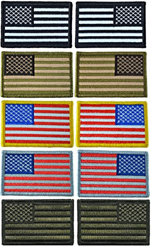 """Completed Set of Tactical USA Flag Patch 2""""x3"""" - By Ranger R"""