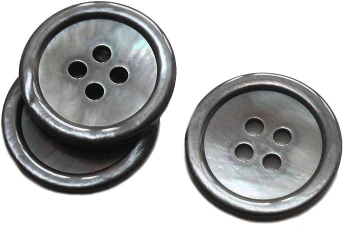 Naturale Grigio YaHoGa 22 pezzi NATURALE BOTTONI MADREPERLA 20 mm 15 mm Genuine bottoni in madreperla MOP Shell pulsanti Blazer bottoni vestito bottoni