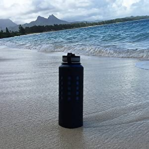 40oz Onoola Silicone Sleeve for Hydro Flask Water Bottles (Jet Black)