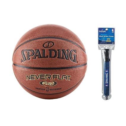 Amazon.com: Spalding NBA Neverflat - Balón de baloncesto ...