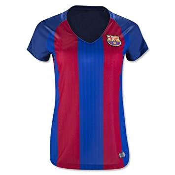 Women s 2016 2017 Lionel Messi Andres Iniesta Luis Suarez Neymar Home  Football Soccer Jersey In Red 973fbfb01f46b