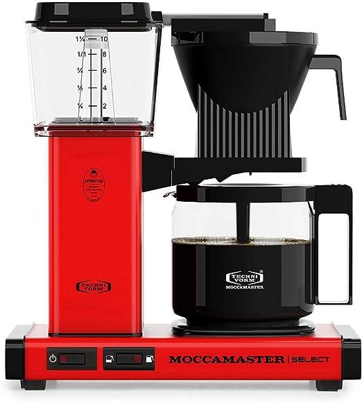 Moccamaster - Filtro para cafetera rojo: Amazon.es: Hogar
