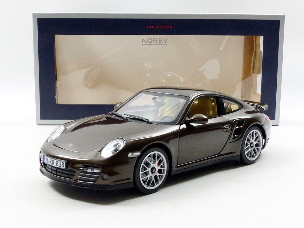 Amazoncom Norev 187622 2010 Porsche 911 Turbo Brown Metallic 118