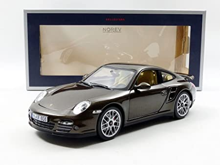 Amazon.com: Norev 187622 2010 Porsche 911 Turbo Brown Metallic 1/18 Diecast Model Car: Norev: Toys & Games
