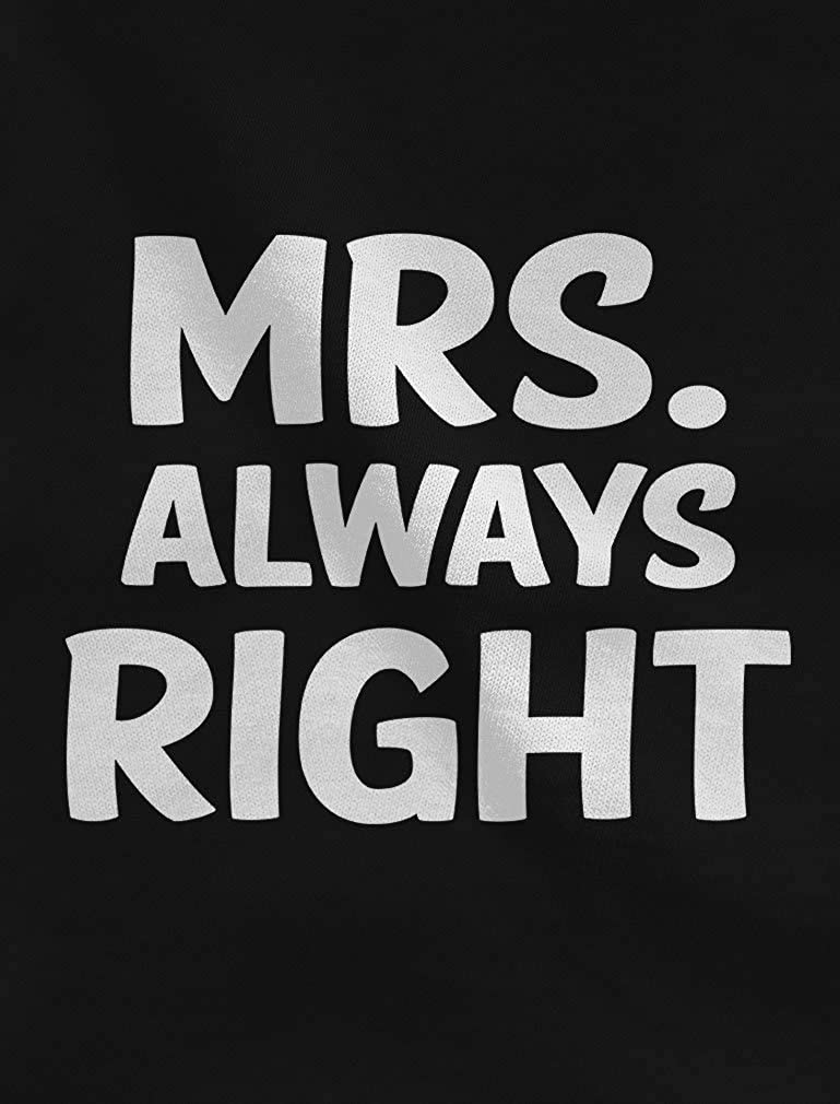 Tstars Mr Right Mrs Always Right Husband /& Wife Funny Matching Couple Hoodie Set