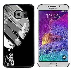 ROKK CASES / Samsung Galaxy S6 EDGE SM-G925 / B&W ROBOTCOP ROBO COP / Delgado Negro Plástico caso cubierta Shell Armor Funda Case Cover