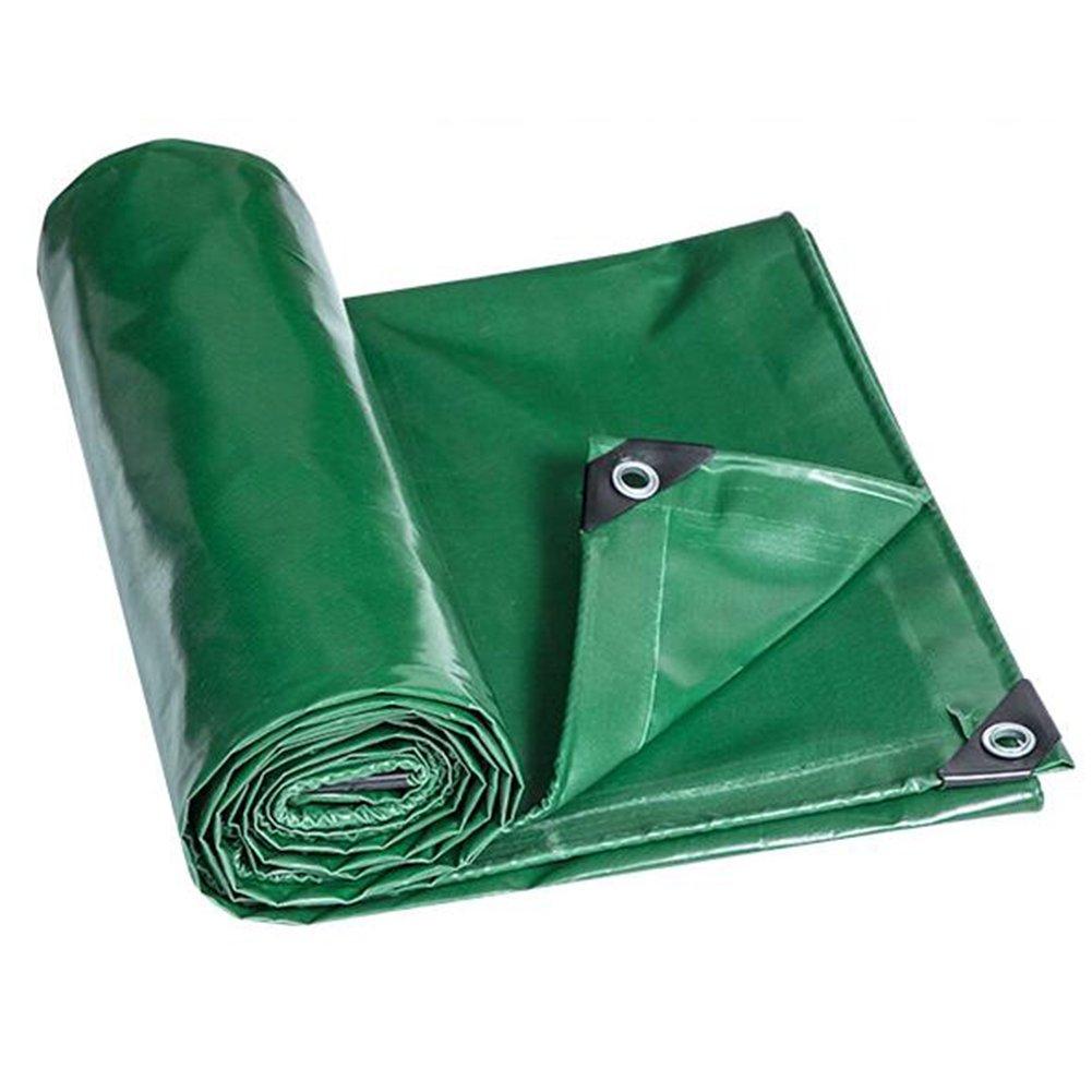 GLJ Tarpaulin Wasserdichtes Tuch Plane Wasserdicht Sonnencreme Verdickung Poncho Rollgewebe Industrie Tuch Plane (Farbe   Grün, größe   4x4m)