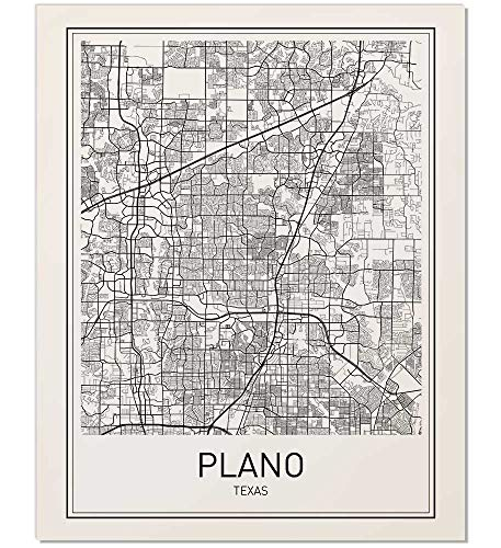 - Plano Poster, Plano Map, Map of Plano, City Map Posters, Modern Map Art, City Prints, Unframed Wall Art, Minimal Print, Map Poster, City Poster, City Map Wall Art, Minimalist Posters, 8x10