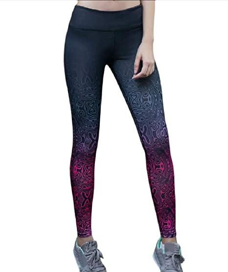 1b193c4a5a9 Zimaes-Women Women s Curvy Quick Dry Athletic Yoga Ombre Activewear Pants  L  Amazon.in  Clothing   Accessories