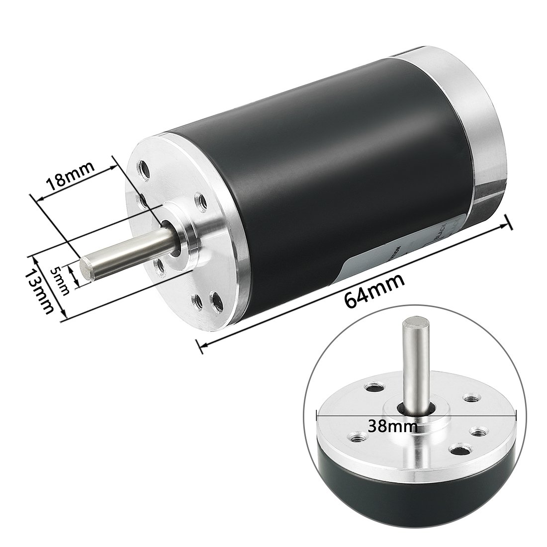uxcell DC 12V 3000RPM Brushed Electric Motor 38mm CCW Replacement Motor