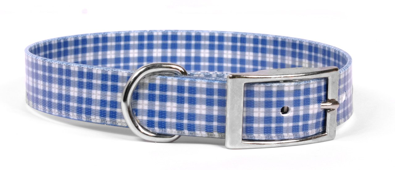 3 4\ Yellow Dog Design Preppy Boy Plaid Elements Dog Collar, Small-3 4  wide and fits neck sizes 10.5 to 13