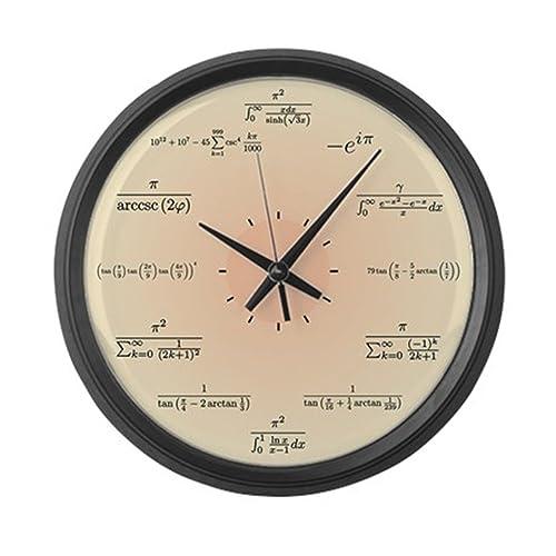 CafePress Math Clock Light Yellow Large 17 Round Wall Clock, Unique Decorative Clock