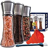 Best Mill Shakers For Salts - Salt and Pepper Grinder Set of 3 Review