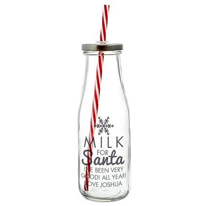 Personalizada Botella de leche Leche para Santa