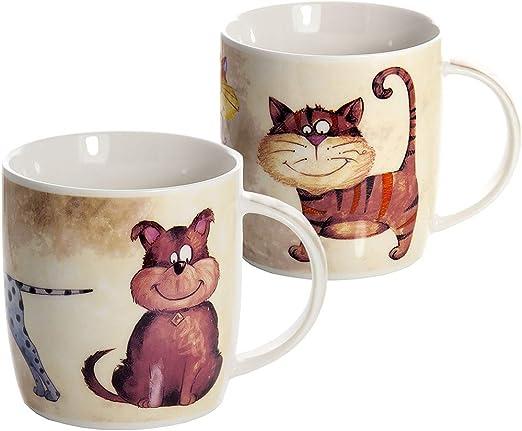 Conjunto 2 Tazas de Desayuno Originales de café té con decoración ...