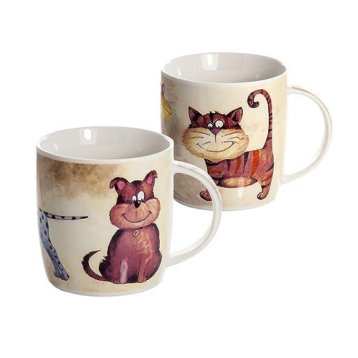 Conjunto 2 Tazas de Desayuno Originales de café té con ...