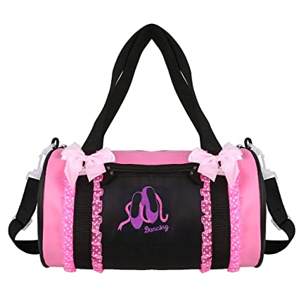 Amazon.com: Freebily Kids Embroidered Dancing Duffle Bag ...