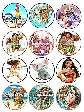 Moana tags set of 12 pcs Moana party decor Moana cupcakes toppers