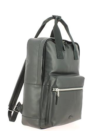 Lacoste Sac à dos Backpack Cuir: : Vêtements et