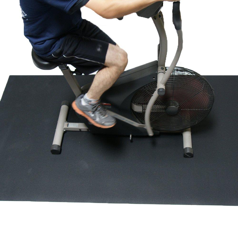Rubber Cal Elliptical Heavy Duty Floor Mat, Black, 3/16-Inch x 4 x 6.5-Feet