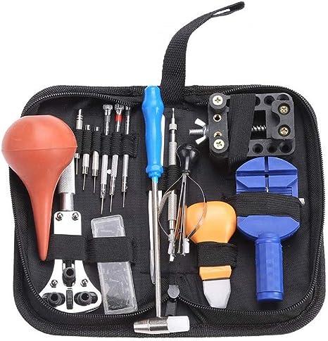 REY Kit de 16 Herramientas de Relojero para la Reparación de Relojes con Estuche: Amazon.es: Electrónica