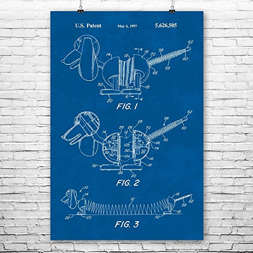 Slinky Collector (Slinky Dog Toy Poster Print, Spring Toy, Nursery Playroom, Toy Story, Kids Room, Toy Collector Gift, Movie Enthusiast Blueprint (8
