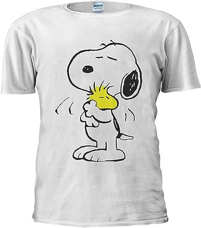 Snoopy Peanuts - Camiseta unisex graciosa y alegre con dibujos animados para hombre y mujer: Amazon.es: Ropa y accesorios
