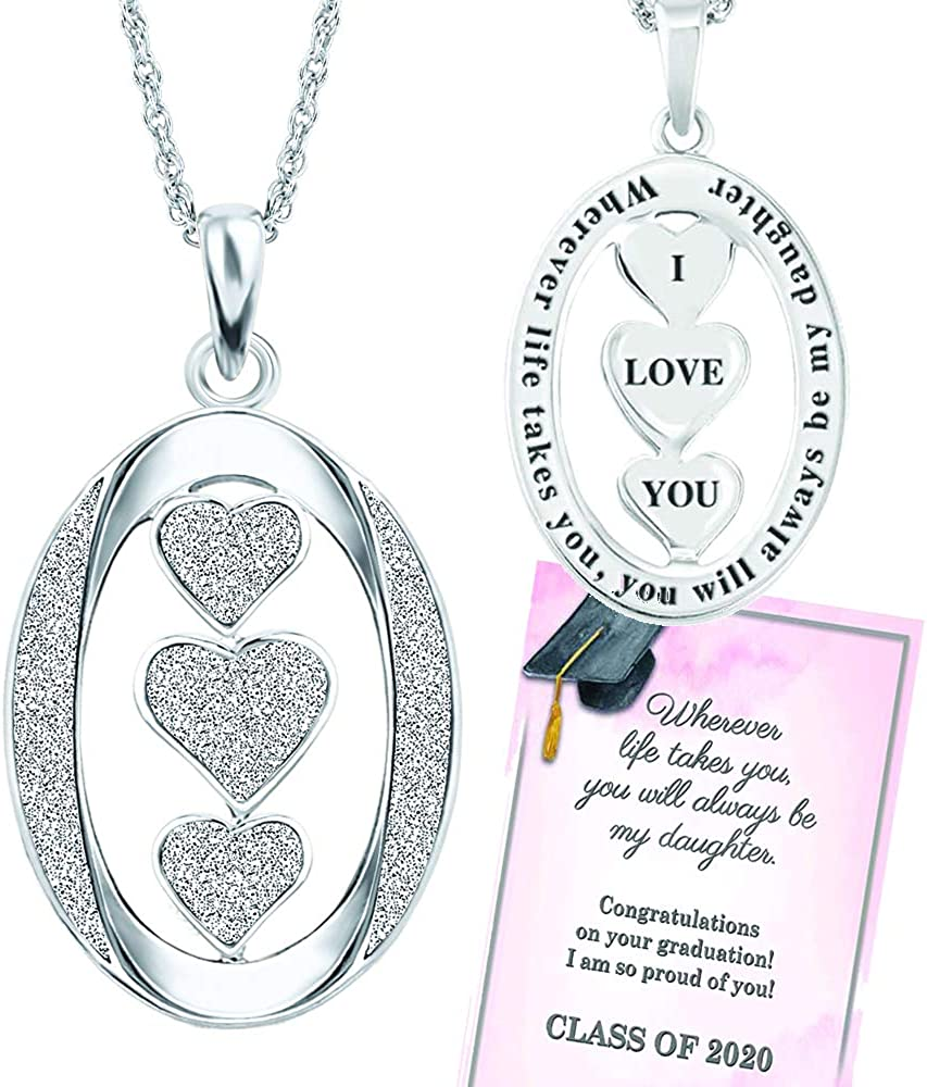 So proud of you heart necklace Graduation gift Congratulations graduation silver plated charm necklace,Graduation necklace