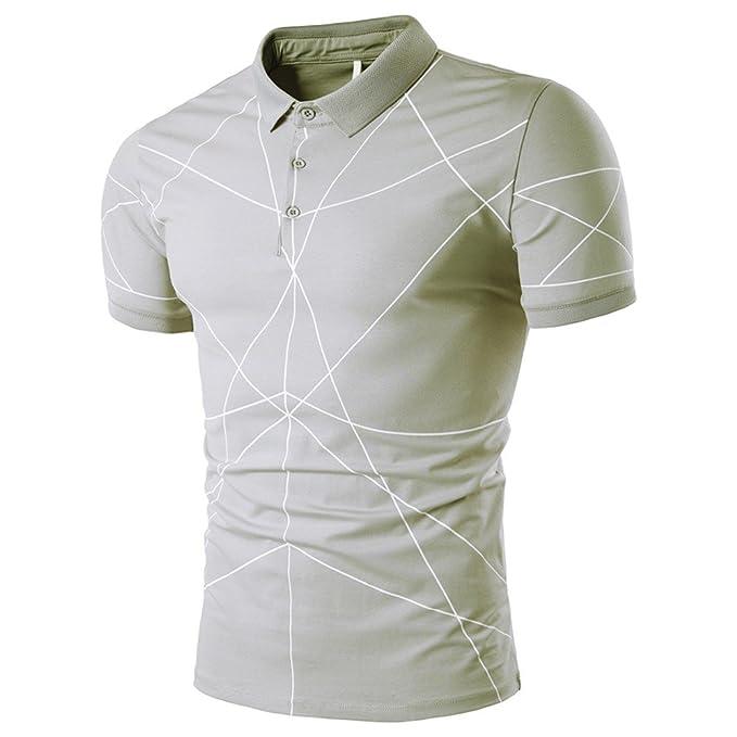 Poloshirt Herren T Shirt Top Sommer Slim Fit Kurzarm Polo Shirt Baumwolle  Regular Fit T-Shirt Hemden Freizeithemd Zhen+ Männer Sport Tank Tops  Einfach ... dc47708378