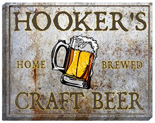 hookers-craft-beer-stretched-canvas-sign-16-x-20