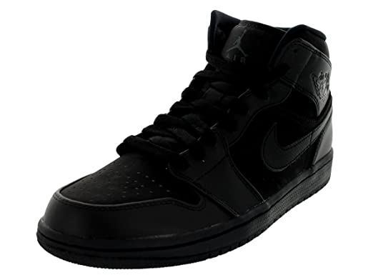 separation shoes 36b72 f8207 Jordan Nike Air 1 Mid Mens Basketball Shoes 554724-011 Black 9.5 M US
