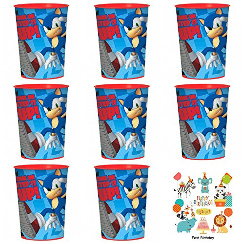 12 pack Sega's Sonic the Hedgehog Plastic Favor Cups Birthday Party Supplies]()