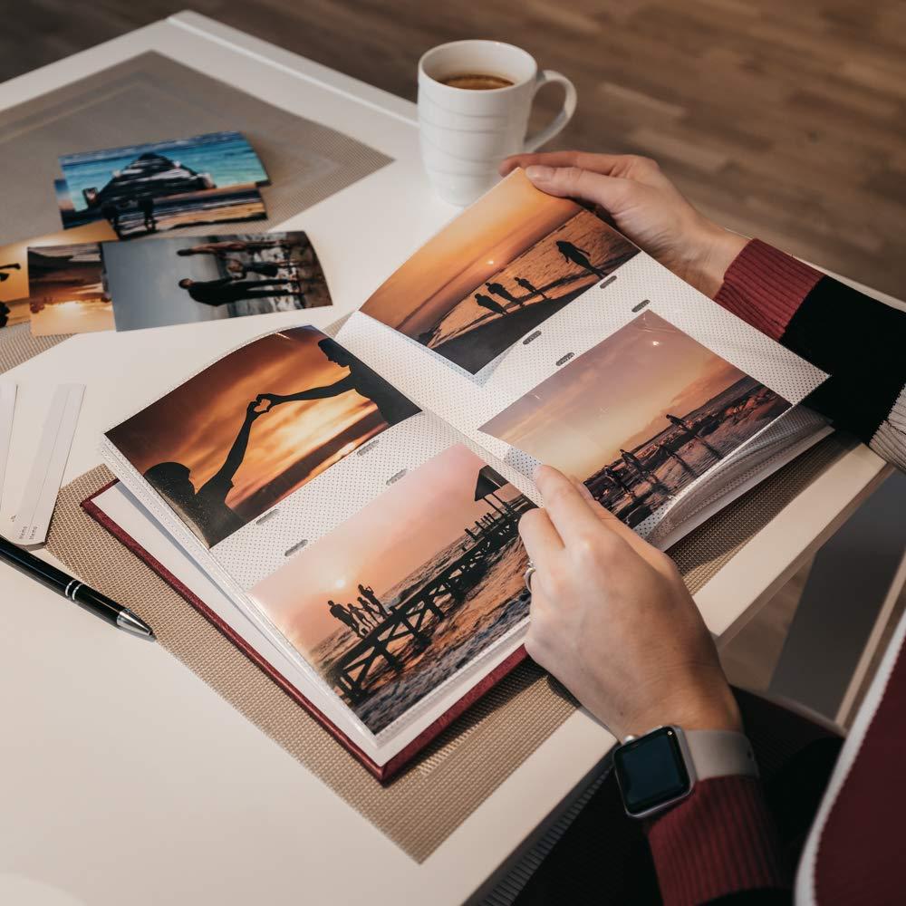 /B 10/x 15//200/m Abstrait/ Victoria Collection Photoalbum/ /Bleu Bookbound Dos, Pochettes 200/Photos en Taille 10,2/x 15,2/cm//10/x 15/cm Memo /écriture Zone