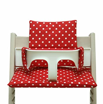 Blausberg Baby   Coated Cushion Set For Tripp Trapp High Chair Of Stokke    Red Dots