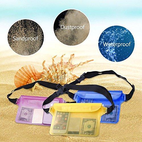freesoar Wasserdicht Tasche Fall Dry Bag Universal mit Hüftgurt Super leicht und größer Platz für Strand/Schwimmen/Bootsleine/Angeln/Camping perfekter Schutz für Handy, Kamera, Bargeld, Dokumente vor