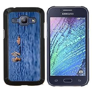 LECELL--Funda protectora / Cubierta / Piel For Samsung Galaxy J1 J100 -- natación para dormir --