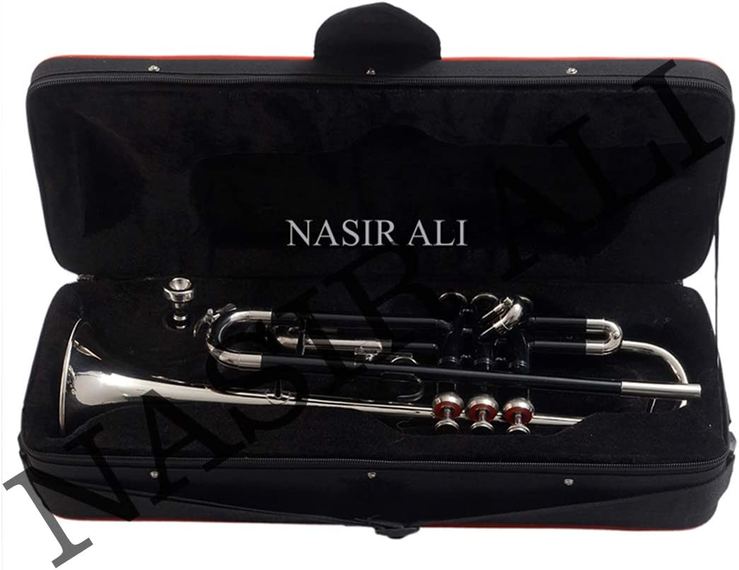 Trumpt Bb pitch Black+Nickel color with free hardase and mouthpiece
