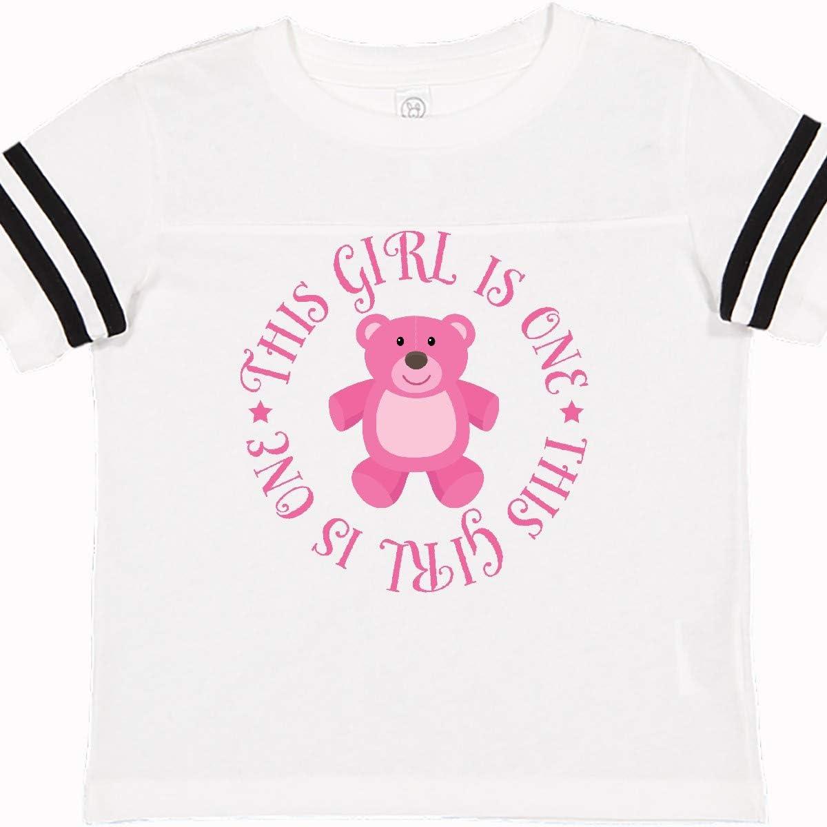 inktastic Girls 1st Birthday Teddy Bear Toddler T-Shirt