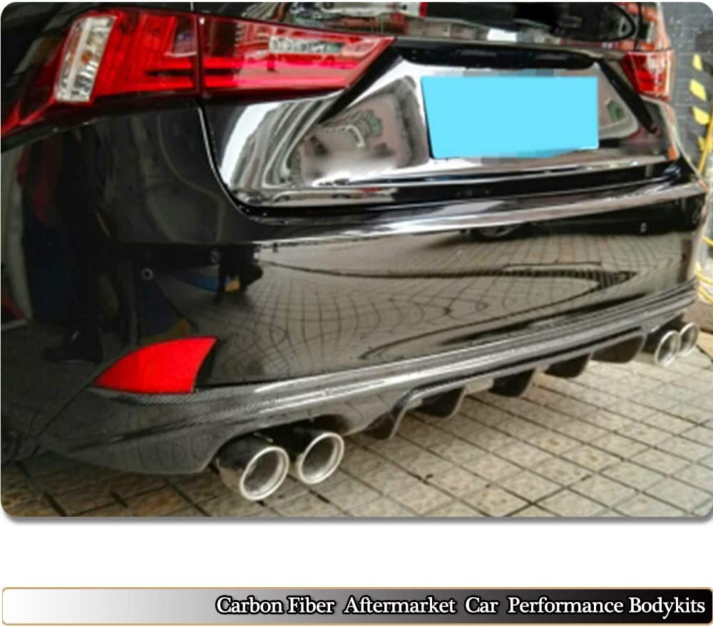 MCARCAR KIT Rear Diffuser fits Lexus IS F 2013-2014 IS IS200t IS250 IS300 IS350 2013-2016 Customized Real Carbon Fiber CF Lower Bumper Lip Spoiler Body Kit
