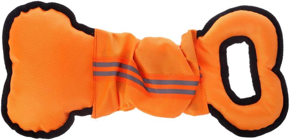 Lyguy Juguete para Mascotas, Juguetes para Perros para Perros masticadores agresivos Tirar interactiva Masticar Juguete Bola de Cuerda Tirar Naranja