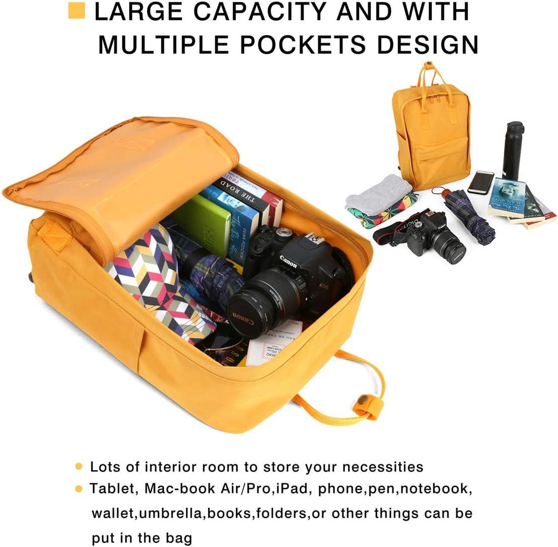 Pupkitten Unique College Student Backpacks Bobcat-Equipment-Black-Logo-Campus Bag Work Daypack Yellow for Unisex