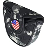 HISTAR USA Golf Green Camouflage Square Mallet/Mallet Putter Head Cover for Taylormade Odyssey
