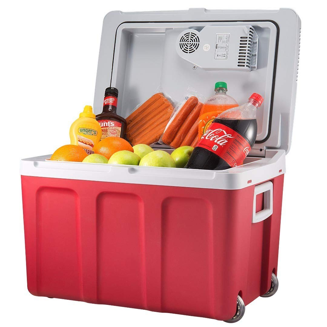 Knox Gear 48 Quart Electric Cooler/Warmer with Dual AC and DC Power Cords (Red) by Knox Gear