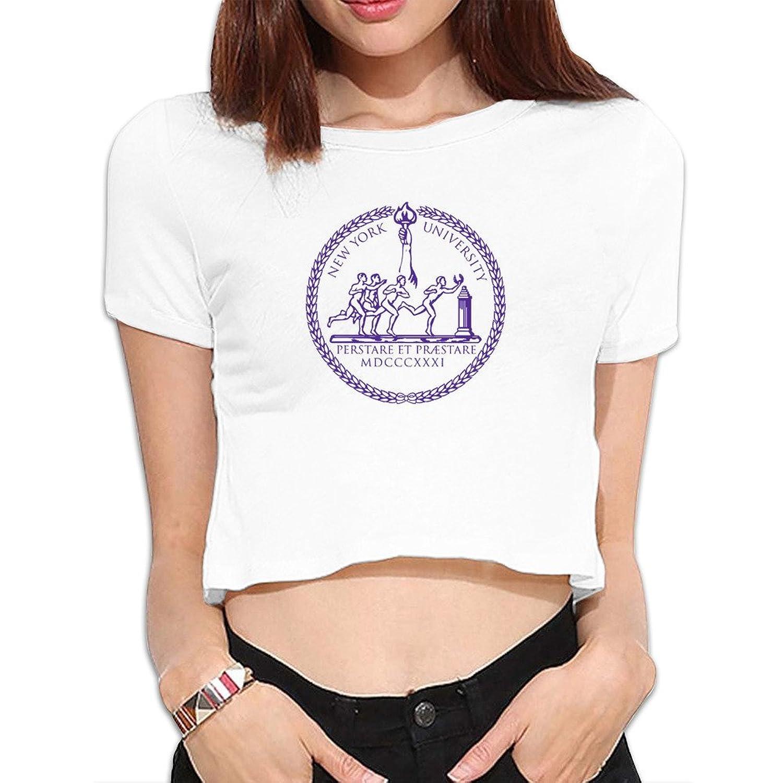 Woman New York University Violets Bobcat Logo NYU Bare