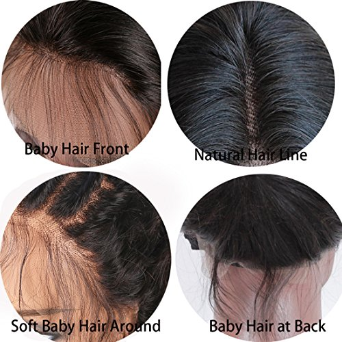 Body Wave Human Hair Lace Front Wigs Ombre Human Hair Wig #1b/red Glueless Full Lace Front Wigs with Baby Hair for Black Women by WY Wigs (Image #4)