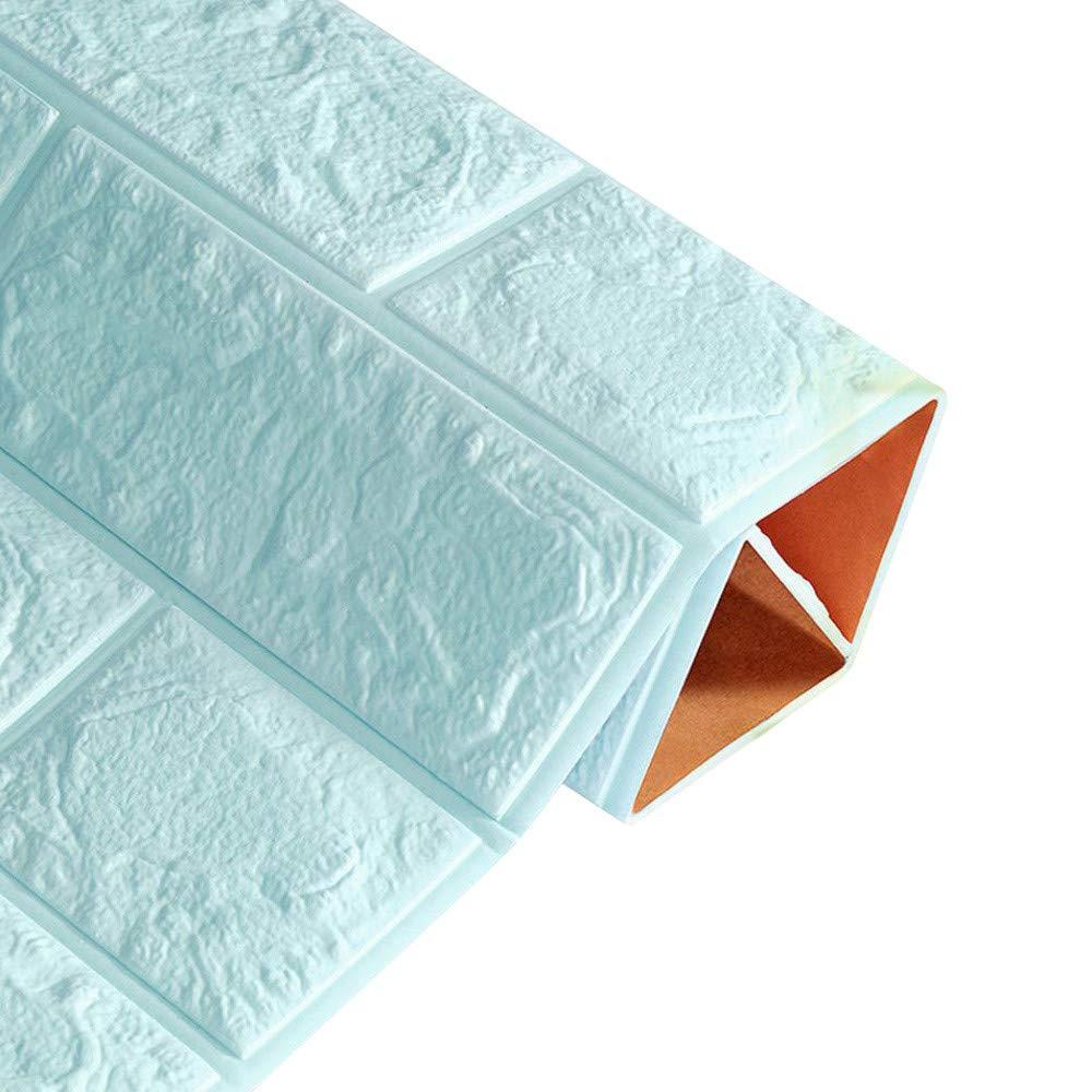 🧱PE Foam 3D Wallpaper DIY Wall Stickers Wall Decor Embossed Brick Stone