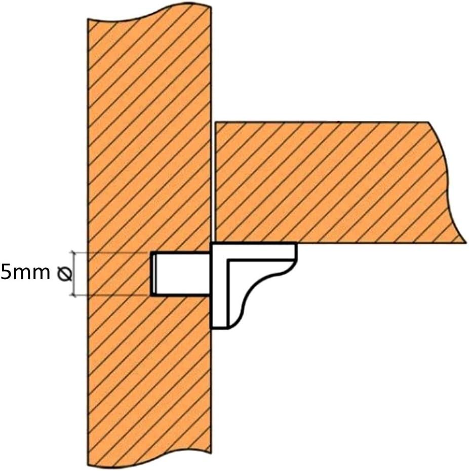 200 taquets d/étag/ère Tablette /à enfoncer /Ø5mm Kallavesi en Plastique Gris C41558 AERZETIX