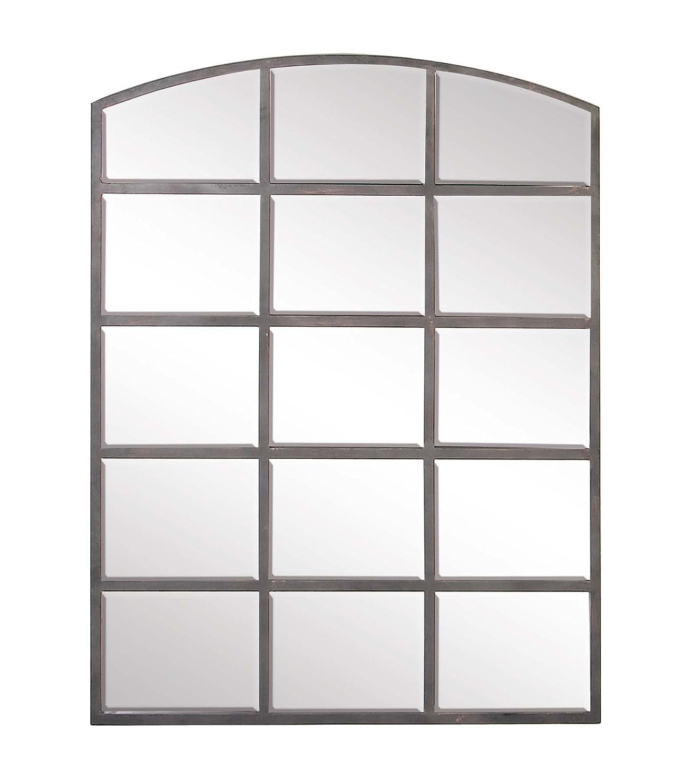 "Metal Wall Mirror Decorative Wall Mirror 36/"" x 48/"" Industrial Wall Mirror Deco 79 Large Black Iron Window Pane Mirror Rectangular Black Metal Mirror"
