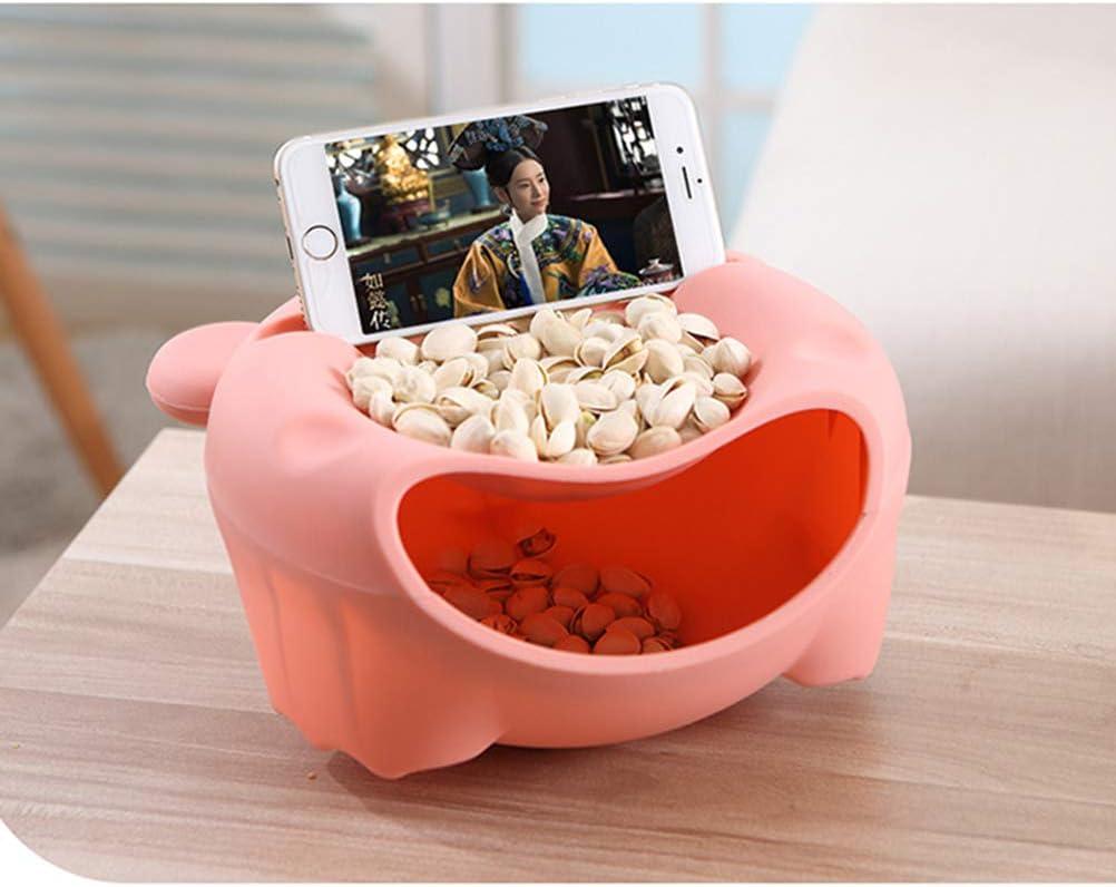 UKCOCO Stilvolle Snack-Aufbewahrungsbox mit Mehreren Funktionen Mobiltelefonst/änder mit Kunststoff-Obstschale