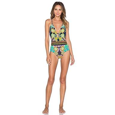 81b21a7a78941 BaronHong Women S Floral Bikini Tops For Women One Piece Swimsuit Bathing  Suit(color